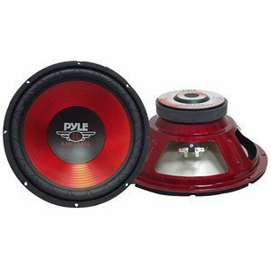 Pyle 12in Red Cone High- Performance Subwoof / Mfr. No.: Plw12rd