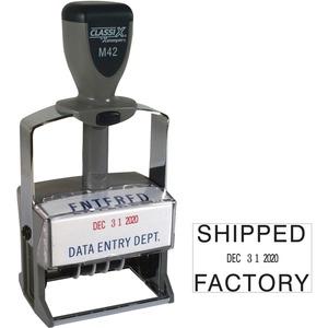 Xstamper Self Inking Date Stamper Custom Message Stamp 1 37 Impression Width X 2 25 Impre