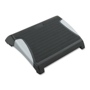 Safco® RestEase Adjustable Footrest with Anti-Slip Mat Black w/Silver Accents