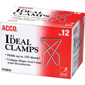 "ACCO® Ideal Clamps 1-3/4"" x 2-3/8"" 12/box"