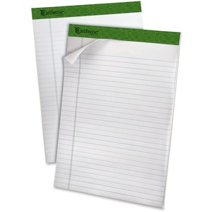 """Earthwise by Ampad Perforated Pad Wide Rule 8-1/2"""" x 11-3/4"""" 40 sheets per pad 4 pads/pkg"""