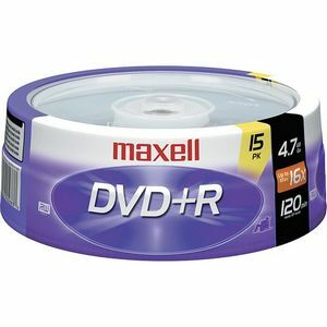 Maxell 4.7 Gb 16x DVD+R 15 Spindle / Mfr. No.: 639008