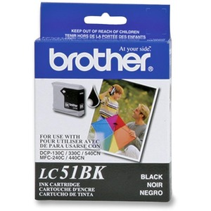 Brother® Inkjet Cartridge LC51BKS Black