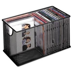 Fellowes® Mesh CD Bin Holds 25 Discs Black