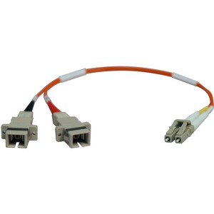 Tripp Lite 1ft Male-to-Female Fiber Optic Cable Adapter 62.5/125 LC - SC / Mfr. No.: N458-001-62