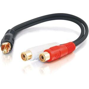 C2G 6in Value Series One RCA Mono Male to Two RCA Stereo Female Y-Cable