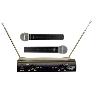 Pyle Pro Dual VHF Wireless Microphone System / Mfr. No.: Pdwm2500