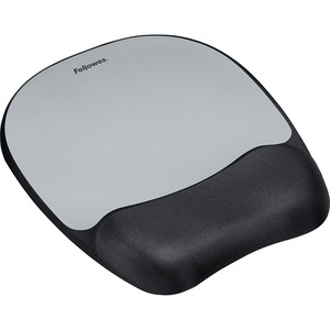 Memory Foam Silver Mouse Pad Wrist Rest Non Skid Backing / Mfr. no.: 9175801