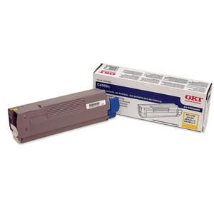 Yellow Toner Cartridge For C6000n/Dn 4k Yield / Mfr. No.: 43324466
