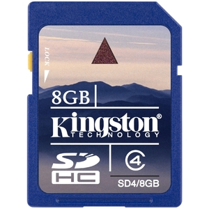 Kingston 8GB Secure Digital High Capacity (SDHC) Card Class 4 / Mfr. No.: Sd4/8gb