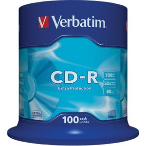 Spindle de 100 CD-R Verbatim Datalife - 700Mo - 43411