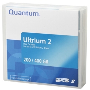 Quantum LTO Ultrium 2 Prelabeled Tape Cartridge