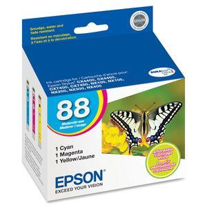 Epson 88 Color Ink Cartridges (T088520), 3/Pack