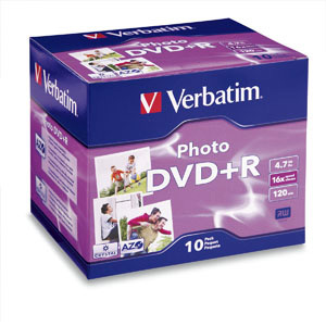 Verbatim 16x DVD+R Media