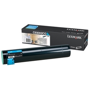 Toner Lexmark Cyan pour C935 24 000 pages - C930H2CG