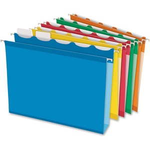 "Pendaflex® Ready-Tab Extra Capacity Hanging Folders with Lift Tab 2"" Letter Assorted Colours 20/box"