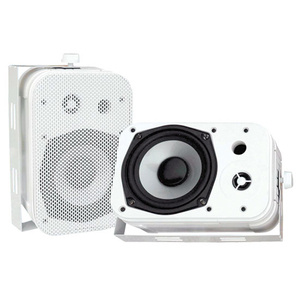 Pyle 5.25in Indoor/Outdoor Waterproof Speakers - White / Mfr. No.: Pdwr40w