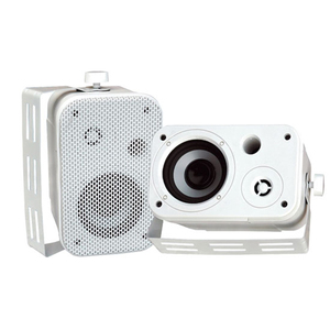 Pyle Audio 3.5'' Indoor/Outdoor Waterproof On-Wall Speakers - White / Mfr. No.: Pdwr30w