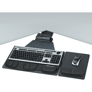 Pro Series Corner Underdesk Executive Keyboard Tray