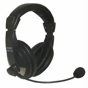 Nady Stereo Headphones With Boom Microphone / Mfr. No.: Qhm-100