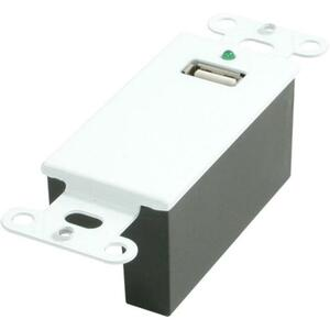 USB Superbooster Wall Plate Decora Style White / Mfr. No.: 29342