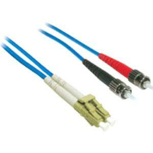 10m LC-ST 62.5/125 OM1 Duplex Multimode PVC Fiber Optic Cable - Blue