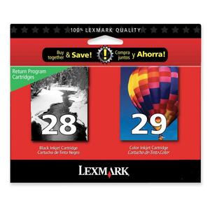 2pk No 28 and No 29 Black Clr Print Cartridge For X2500s Z1300s / Mfr. no.: 18C1590