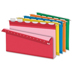 "Pendaflex® Ready-Tab® Extra Capacity Hanging Folders with Lift Tab 2"" Legal Assorted Colours 20/box"