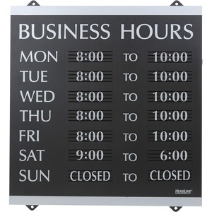Headline Sign Business Hours open/closed