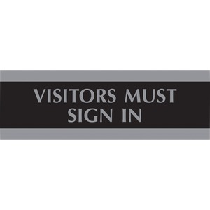 """Headline® Century Visitors Must Sign In Sign 3"""" x 9"""" English"""