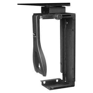 Under Desk CPU Holder Black Steel 360 Swivel / Mfr. No.: Cs200mb