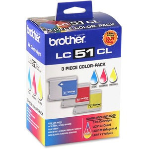 Brother® Inkjet Cartridges LC513PKS Cyan, Yellow, Magenta 3/pkg