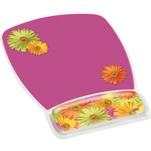Mousepad And Wrist Rest Gel Clear Daisy Design / Mfr. No.: Mw308ds