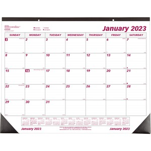 Product Redc1731 Brownline Monthly Desk Wall Calendar