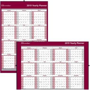 "Brownline® Laminated Wall Calendar 32x48"" English"
