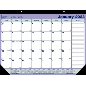 "Blueline® Monthly Desk/Wall Calendar 21-1/4"" x 16"" English"