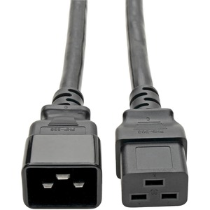 2ft C19 To C20 Power Cable 16a 250v 3x12ga Conductors / Mfr. No.: P036-002