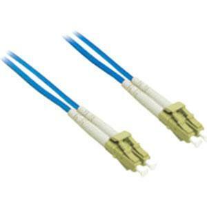 10m LC-LC 62.5/125 OM1 Duplex Multimode Fiber Optic Cable (Plenum-Rated) - Blue