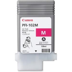 Encre Canon LUCIA PFI-102M Magenta 130mL - Pour IPF500/600/610/710 720/LP17/LP24 - 0897B001AA