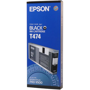 Black Ink Cartridge For Epson Stylus Pro 9500 / Mfr. no.: T474011