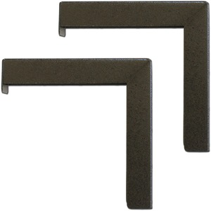 Pair 6in Black L Bracket Mounts For Wall Or Ceiling Screens / Mfr. No.: Zvmaxlb6-B