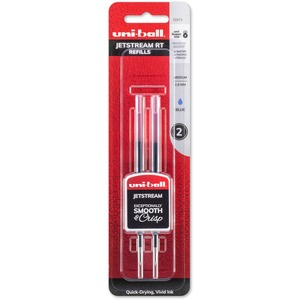 uni-ball® Jetstream Retractable Pen Refills Bold Point Blue 2/pkg