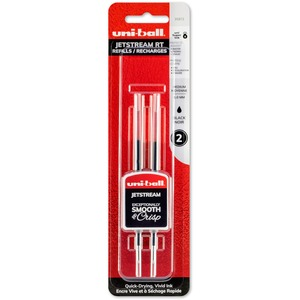 uni-ball® Jetstream Retractable Pen Refills Bold Point Black 2/pkg