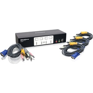 4port USB Gcs1804 Kvmp Switch With 2.1 Audio