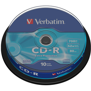 VERBATIM Spindle de 10 CD-R 700MB 52x (43437) - 43437