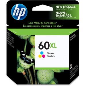 HP Inkjet Cartridge High Yield CC644WN #60XL Tricolour