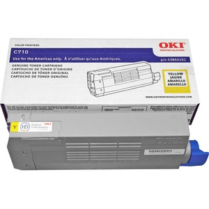 Yellow Toner Cartrg For C710 Series 11.5k Yield Iso Test Sta / Mfr. No.: 43866101