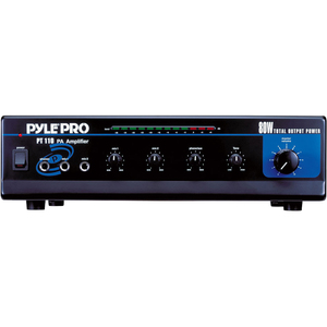 Pyle 80 Watt AC/DC Microphone PA Mono Amplifier w/ 70V Output and Mic Talkover / Mfr. No.: Pt110