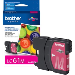 Lc61m Magenta Ink Cartridge For Mfc-6490cw / Mfr. No.: Lc61m