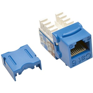 Cat6/Cat5e RJ45 Blue 110 Punch Down Keystone Jack / Mfr. No.: N238-001-Bl